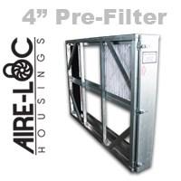 Flat-Bank Housing 4 Inch Pre-Filter